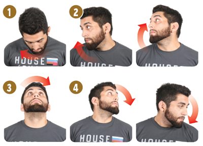 "Note: In the fitness world these aren't called ""neck rotations"" (Look Side To Side is); however, I feel the name suits them better because of the movement."